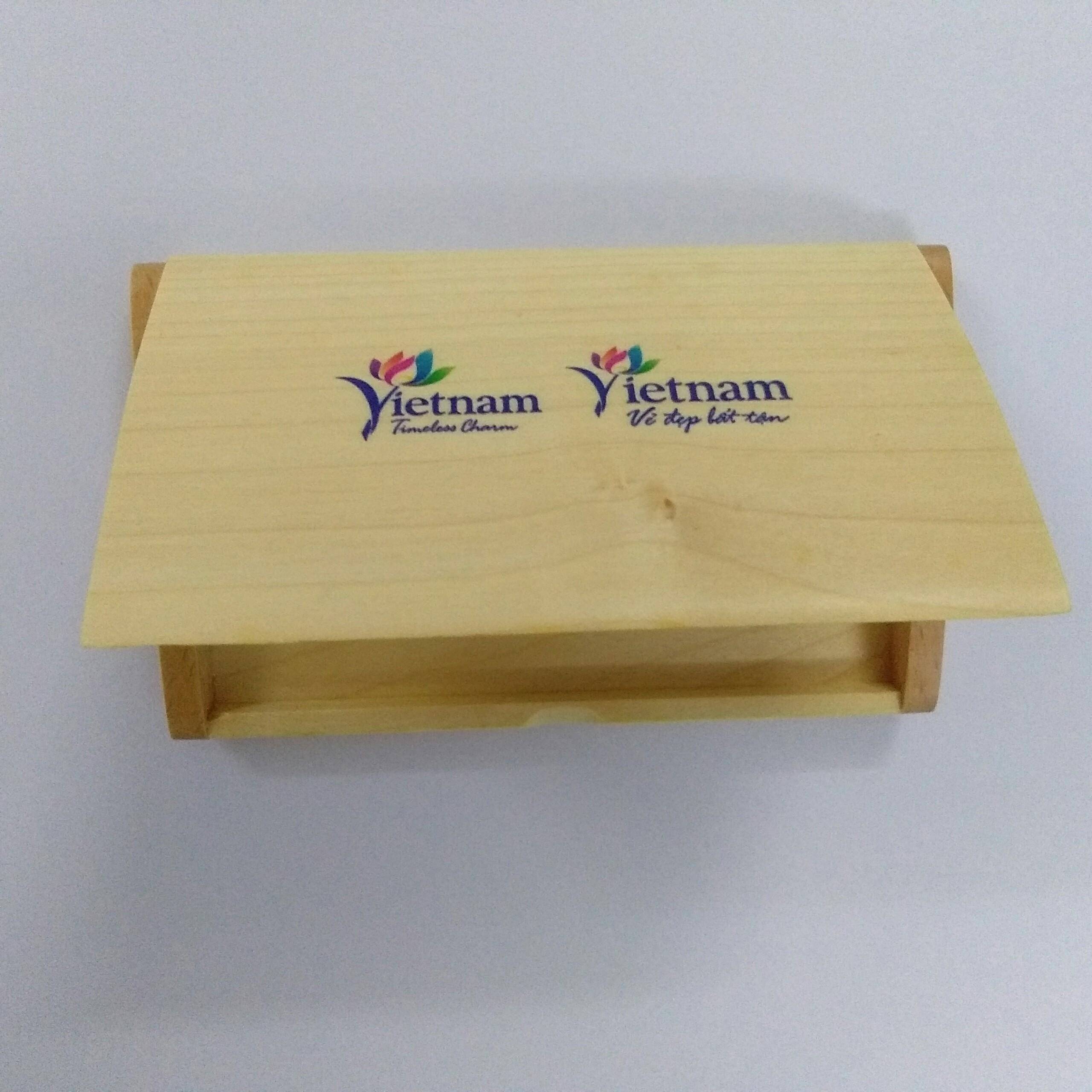 Hộp đựng name card gỗ NC09 in logo màu