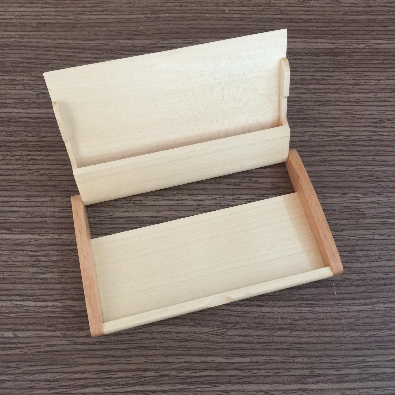 Hộp đựng name card bằng gỗ NC09 bên trong