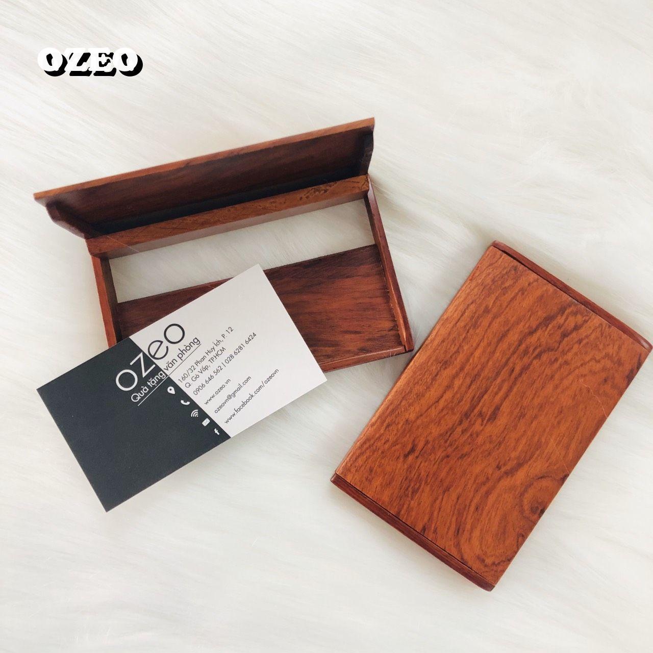Hộp đựng name card NC091 màu gỗ sậm