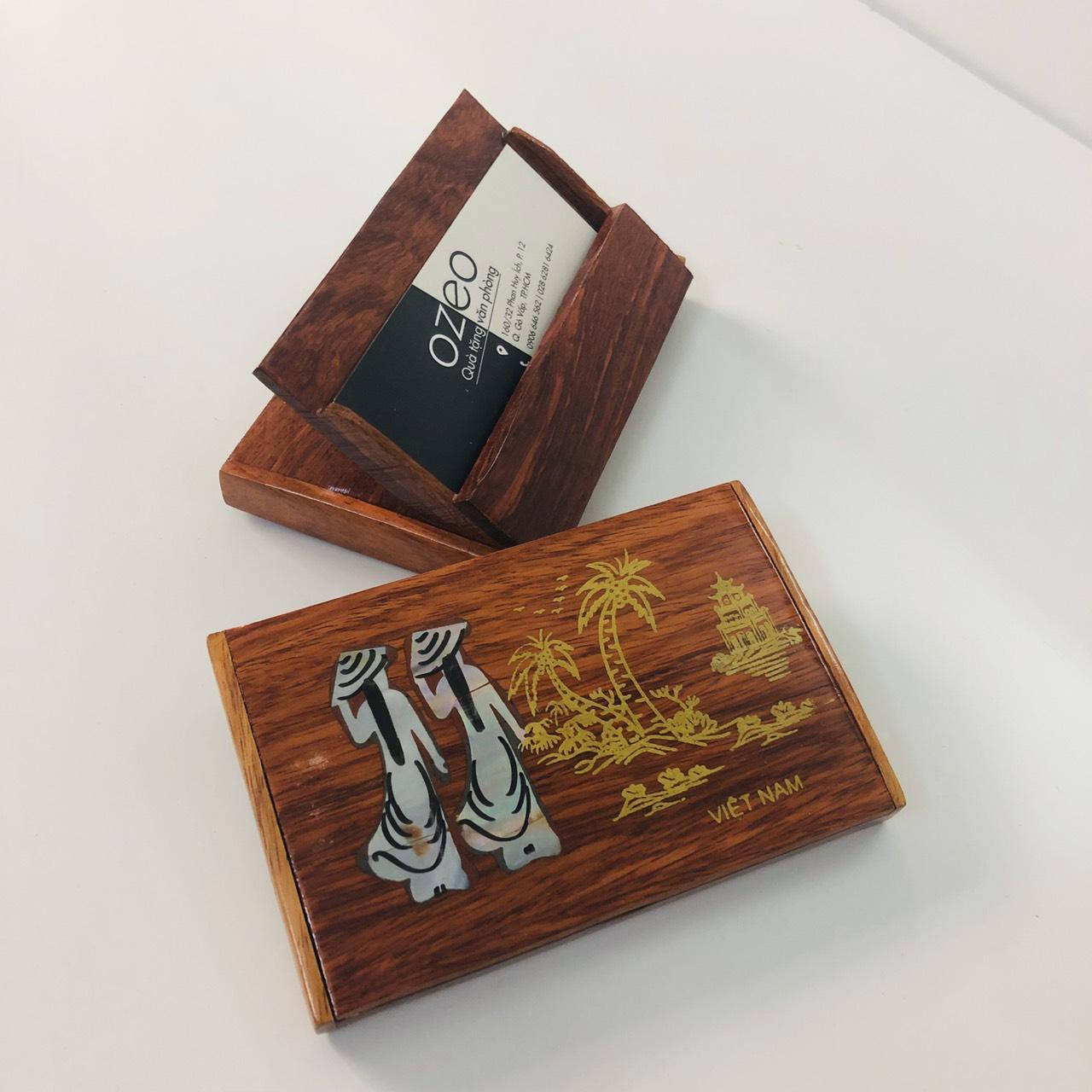 Hộp đựng name card gỗ NC093