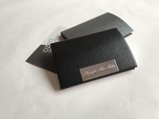 Ví đựng name card nam NC01 - màu đen