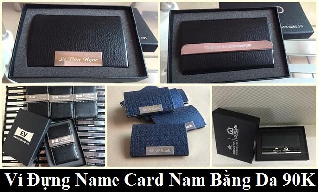 Các Mẫu Ví Đựng Name Card Nam Bằng Da Đồng Giá 90K
