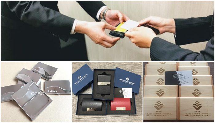 Cung cấp hộp đựng danh thiếp, ví đựng name card cao cấp tại Tp.HCM
